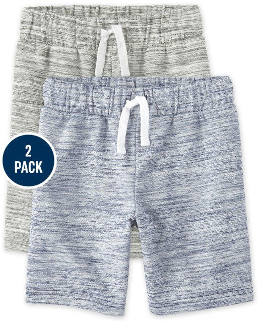 Boys French Terry Knit Shorts 2-Pack