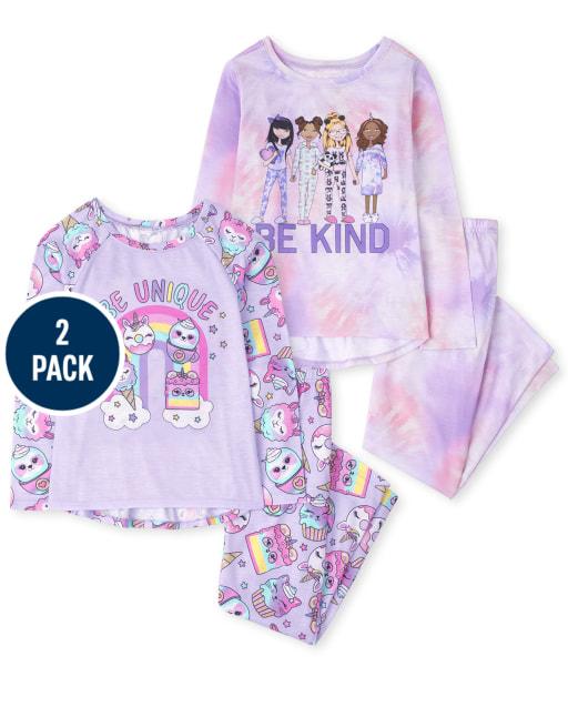 Girls Long Sleeve Be Kind Pajamas 2-Pack