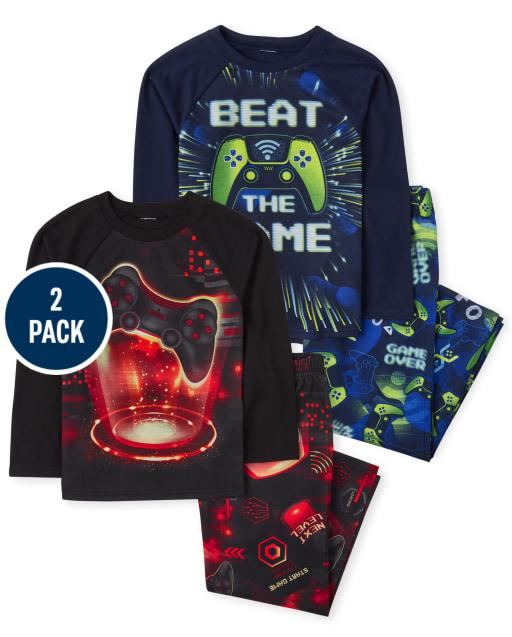 Boys Long Sleeve Video Game Pajamas 2-Pack