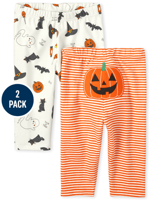 Unisex Baby Halloween Knit Pants 2-Pack