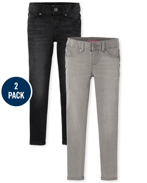 Girls Stretch Knit Denim Legging Jeans 2-Pack
