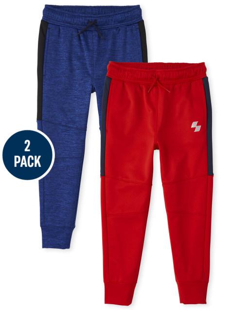 Pack de 2 pantalones joggers de rendimiento de punto deportivo PLACE para niños