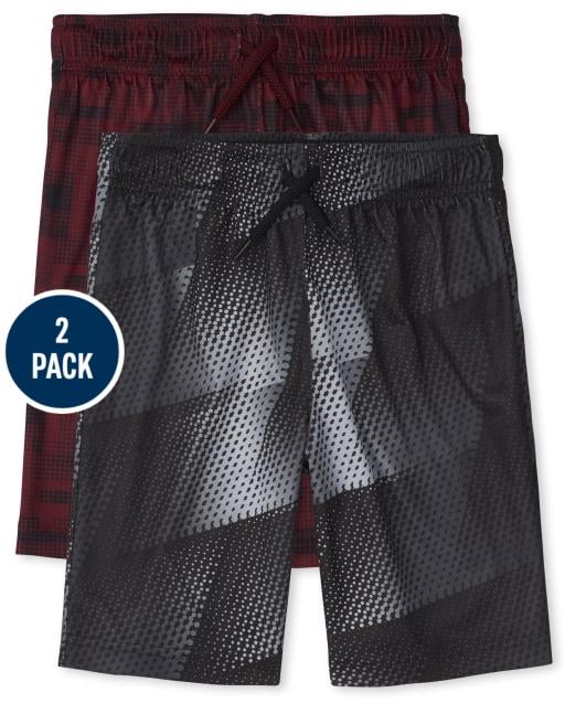 Boys PLACE Sport Print Mesh Performance Basketball Shorts 2-Pack