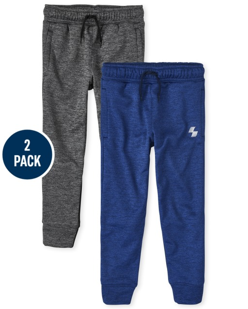 Boys PLACE Sport Marled Knit Performance Jogger Pants 2-Pack