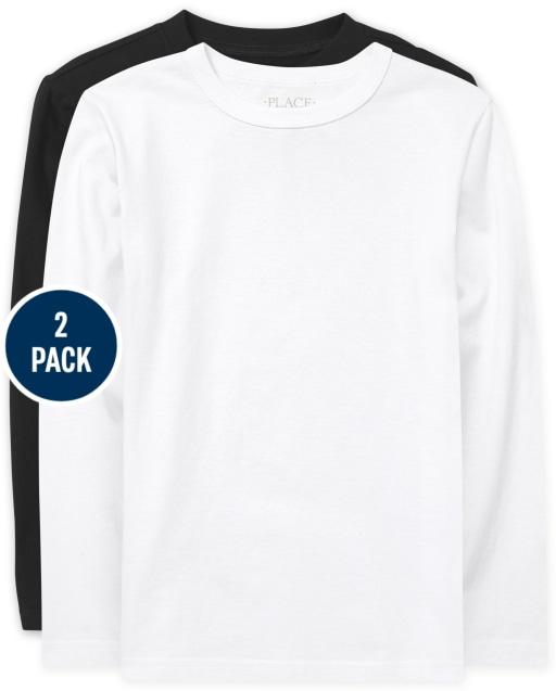 Boys Uniform Short Sleeve Basic Layering Tee 2-Pack
