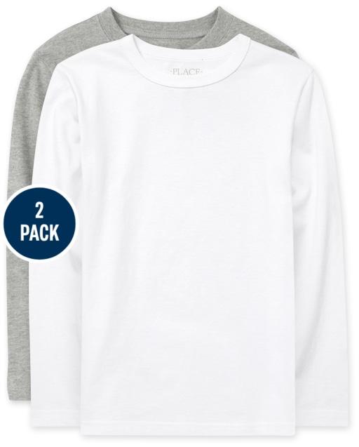 Boys Uniform Long Sleeve Basic Layering Tee 2-Pack