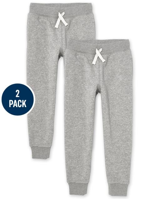 Boys Uniform Fleece Jogger Pants 2-Pack