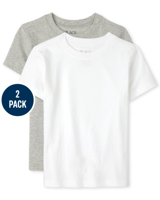 Pack de 2 camisetas de manga corta para niños