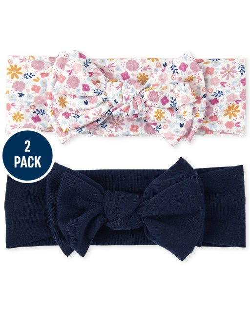 Baby Girls Floral Bow Headwrap 2-Pack