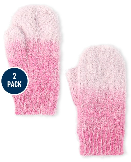 Girls Ombre Cozy Mittens