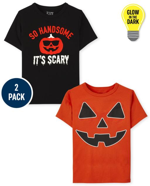 Toddler Boys Short Sleeve Halloween Graphic Tee 2-Pack