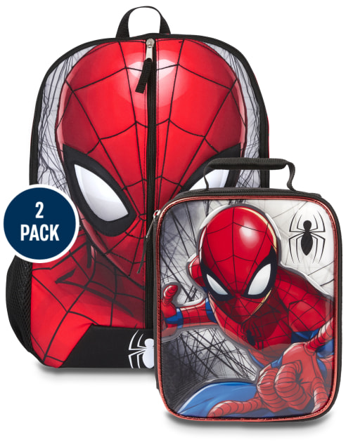 Boys Spiderman Backpack And Lunch Box 2-Piece Set