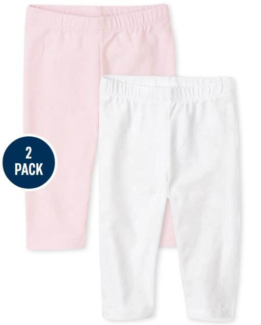 Pack de 2 leggings capri para niñas pequeñas