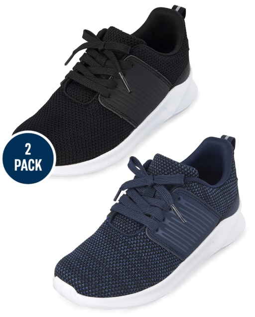 Paquete de 2 zapatillas deportivas para correr con uniforme para niños