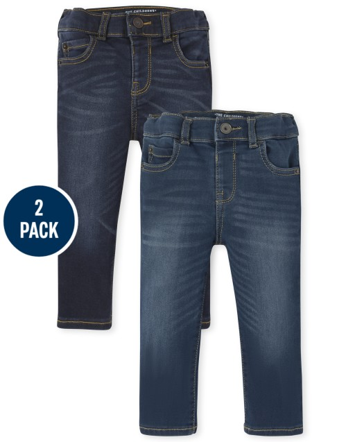 Baby And Toddler Boys Stretch Skinny Sweatpant Jeans 2-Pack