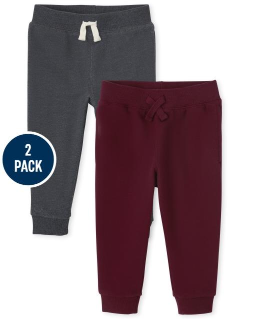 Toddler Boys Active Fleece Jogger Pants 2-Pack