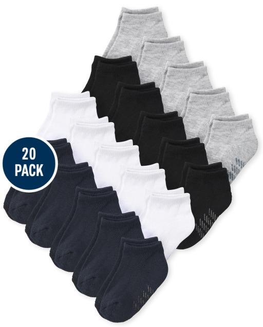 Unisex Toddler Ankle Socks 20-Pack