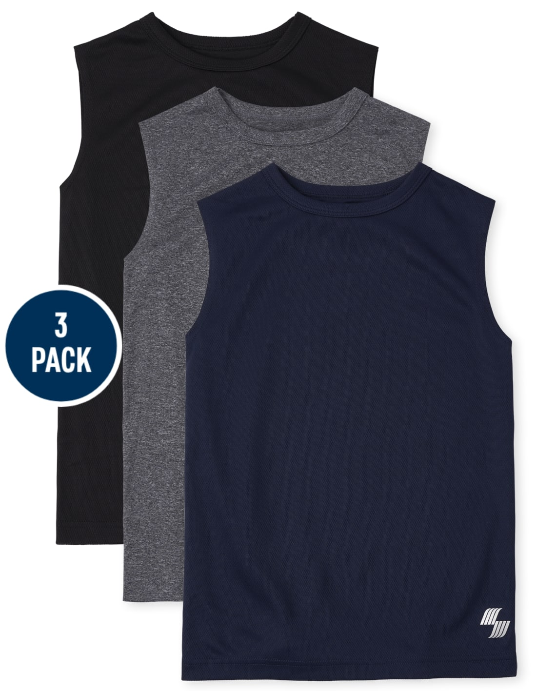 3-Pack The Childrens Place Boys Performance Muscle Tank Top