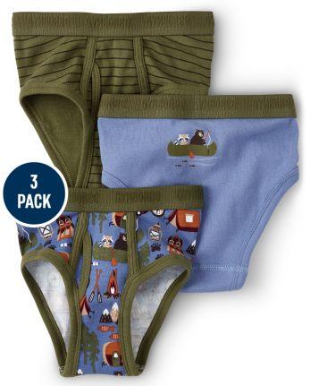 Boys Campout Briefs 3-Pack