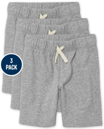 Boys Uniform French Terry Shorts 3-Pack