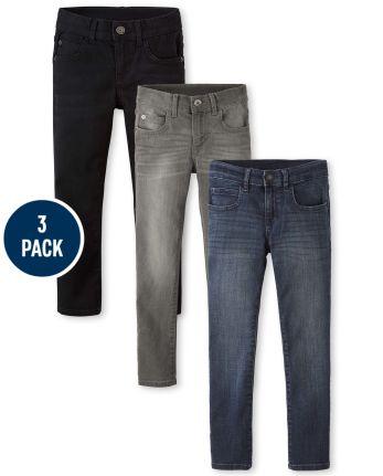 Boys Super Skinny Stretch Jeans 3-Pack