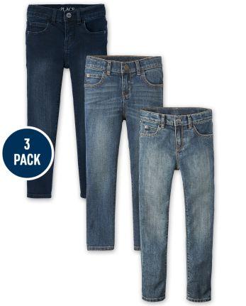 Boys Stretch Skinny Jeans 3-Pack