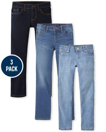 Girls Basic Stretch Skinny Jeans 3-Pack