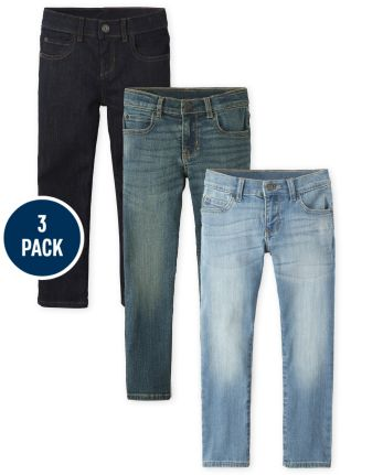 Boys Stretch Straight Jeans 3-Pack