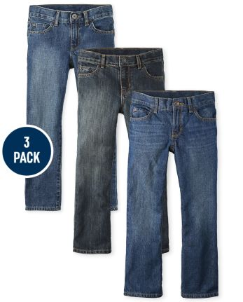 Boys Bootcut Jeans 3-Pack