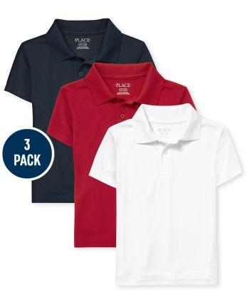 Boys Uniform Performance Polo 3-Pack