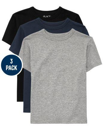 Boys Uniform Basic Layering Tee 3-Pack