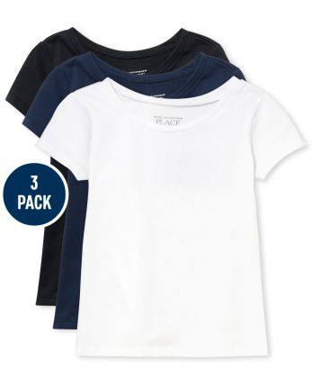 Toddler Girls Basic Layering Tee 3-Pack