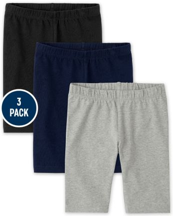 Girls Bike Shorts 3-Pack