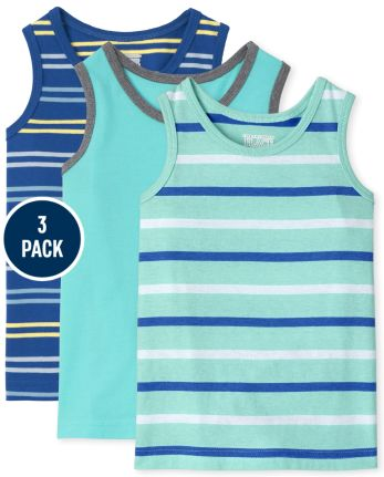 Baby And Toddler Boys Striped Tank Top 3-Pack