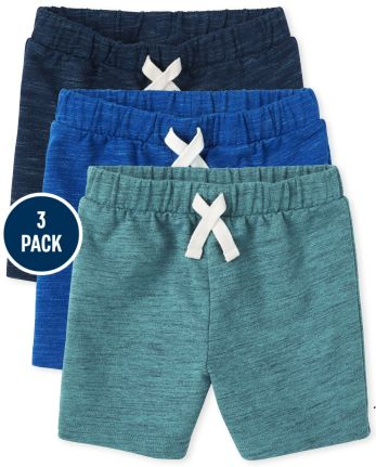 Toddler Boys French Terry Shorts 3-Pack