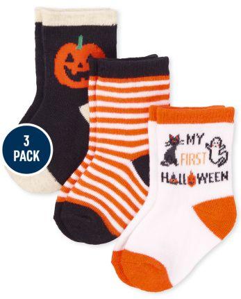 Unisex Baby Halloween Midi Socks 3-Pack