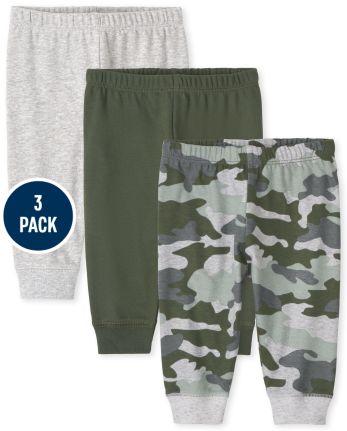 Baby Boys Camo Pants 3-Pack