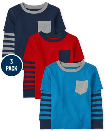 Baby And Toddler Boys 2 In 1 Top 3-Pack