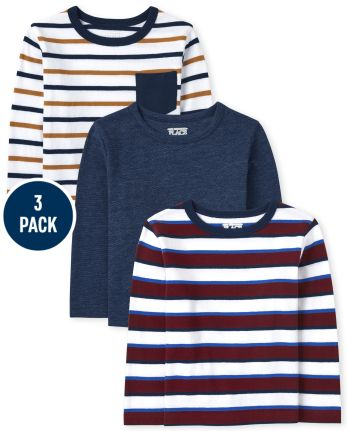 Baby And Toddler Boys Striped Top 3-Pack