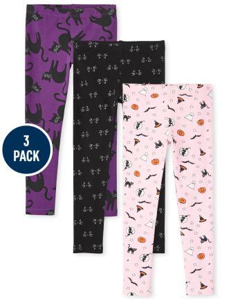 Girls Halloween Leggings 3-Pack