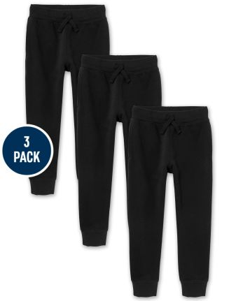 Pantalón de chándal de polar de uniforme para niños, paquete de 3