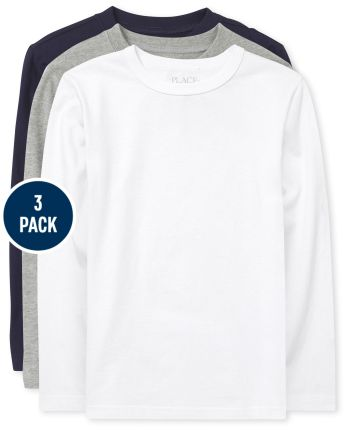 Boys Solid Top 3-Pack