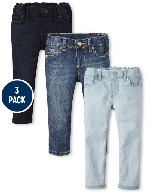 Baby And Toddler Girls Basic Skinny Jeans 3-Pack