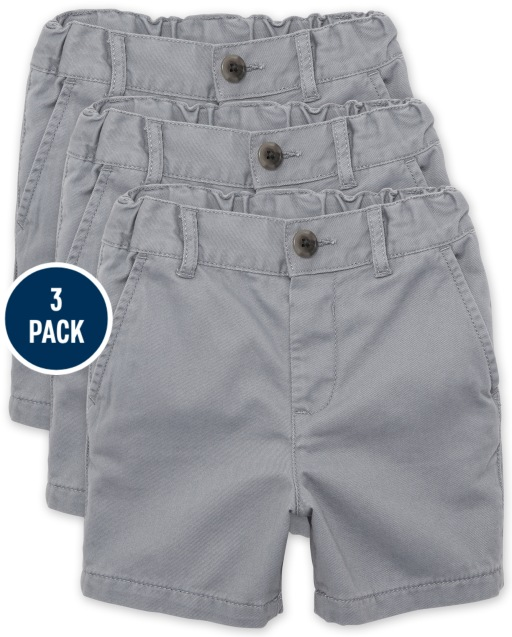 Baby And Toddler Boys Uniform Woven Chino Shorts 3-Pack