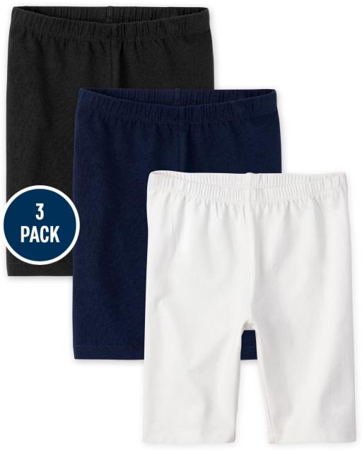 Girls Mix And Match Knit Bike Shorts 3-Pack