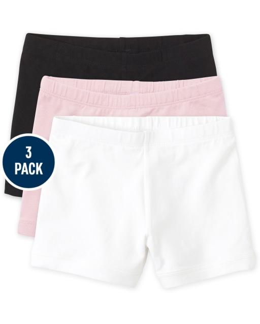 Girls Knit Cartwheel Shorts 3-Pack