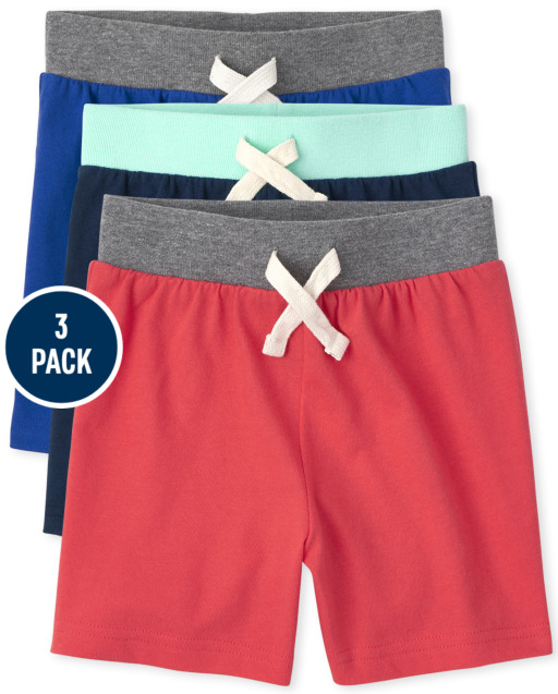 Toddler Boys Mix And Match Knit Jersey Shorts 3-Pack