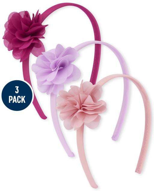 Girls Flower Headband 3-Pack
