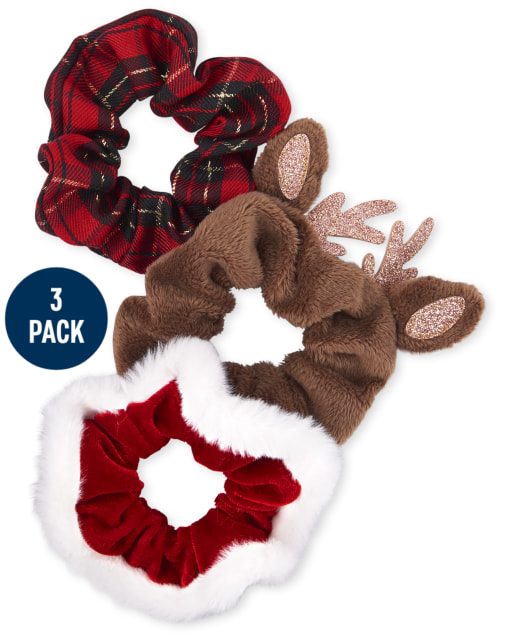 Girls Christmas Scrunchie 3-Pack