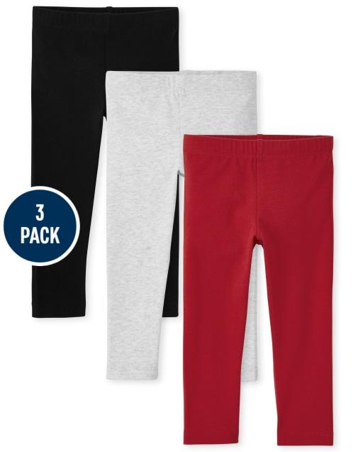 Toddler Girls Knit Leggings 3-Pack
